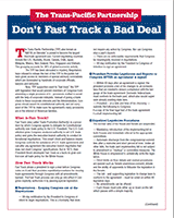 Don't Fast Track a Bad Deal=